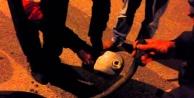 Motosikletten benzin çalarken yakalandı