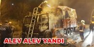 Alanya#039;dan giden kamyon Ankara#039;da küle döndü