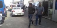 Çaldığı televizyonla polise yakalandı