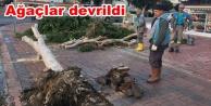Dün gece Alanya#039;yı fırtına vurdu