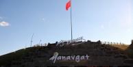 Yemişli Mesire alanına dev Türk bayrağı