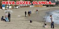 Alanya#039;da plajlar amatör balıkçılara kaldı