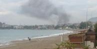 Alanya#039;yı kaplayan yangın dumanı korkuttu