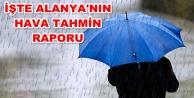 Meteoroloji#039;den Alanya#039;ya sağanak yağış uyarısı
