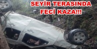 Alanya#039;da araç uçuruma yuvarlandı: 1 ölü 3 yaralı var