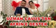 Alanya'da nikah masasını gül yerine zeytin dalıyla donattı