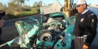 Aracın ön bölümünde bulunan stepne, sürücüyü ölümden kurtardı