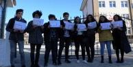 Hacizli okulda karne protestosu