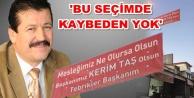 Sanayi esnafından Kerim Taş#039;a pankart jesti
