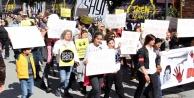 Alanyada çocuk istismarına tepki yürüyüşü