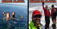 Alanya#039;da hem kar hem deniz keyfi