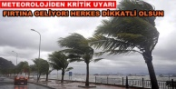 Alanya#039;ya fırtına uyarısı