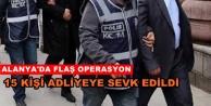 Aranan şüphelilere yönelik operasyon: 1i kadın 15 gözaltı