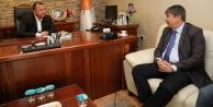 Başkan Türelden AK Parti İl Başkanı Taşa hayırlı olsun ziyareti