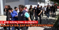 Alanya#039;da şafak baskınına 5 tutuklama