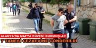Alanyada suç örgütü operasyonuna 7 tutuklama