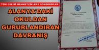 Mehmetçik Vakfı o okula plaket gönderdi
