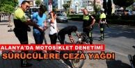 Motosiklet denetiminde ceza yağdı