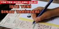 Seçimler nedeniyle sınavlar ertelendi