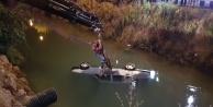 Sulama kanalına uçan araçta can pazarı
