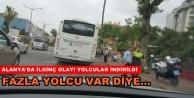 Alanya'da halk otobüsünde fazla yolcu sorunu...