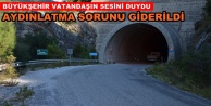 Alanya'daki o tünel aydınlatıldı
