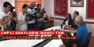 CHP#039;de hedef 10 milletvekili çıkarmak