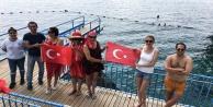 Mavi bayraklı Falez plajları açıldı
