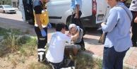 Para nakil aracı yaşlı kadına çarptı