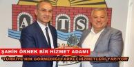 Rektör Pınarbaşı'ndan Şahin'e tebrik
