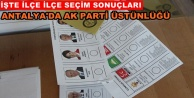 16 ilçede Ak Parti, 3 tanesinde CHP