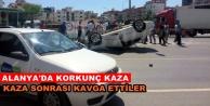 Alanya#039;da trafik kazası! Yaralılar var