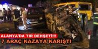 Alanya#039;da zincirleme trafik kazası!