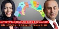 Antalyada partilerin kazandığı oy oranları ve milletvekili sayıları