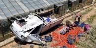 Gazipaşa'da kamyonet devrildi! 1 yaralı var