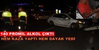 Alanya#039;da kaza yapan alkollü sürücüye meydan dayağı!