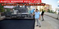 Belediyeden sıcak asfalt çalışması