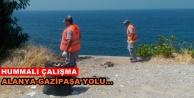 Büyükşehir#039;den sahil yoluna temizlik