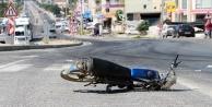 Komşuda motosiklet kazası: 1 yaralı