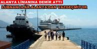 Lübnanlı turistler denizden geldiler
