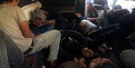 Alanya#039;da mahsur kalan kaçak Suriyeliler kurtarıldı