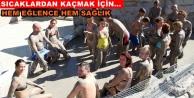 Alanya#039;da turistler çamur banyosuyla stres atıyor