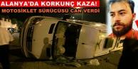 Motosiklet minibüse çarptı: 1 ölü 2 yaralı var