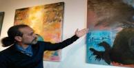 'Dört Renk Dört Yön sergisi sanatseverlerle buluştu