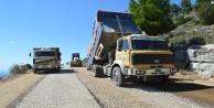 Manavgat Yaylaalan mahalle grup yolu asfaltlanıyor