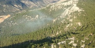 Orman yangınını söndürme çalışmaları devam ediyor