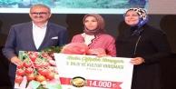 122 kadın çiftçiyi geçip 14 bin TL#039;nin sahibi oldu