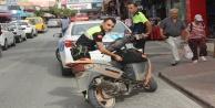 Motosiklet kazalarında 3 kişi yaralandı