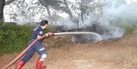 Orman yangınında 2 dönüm alan zarar gördü