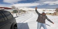 Alanyalı kar için Toroslara akın etti